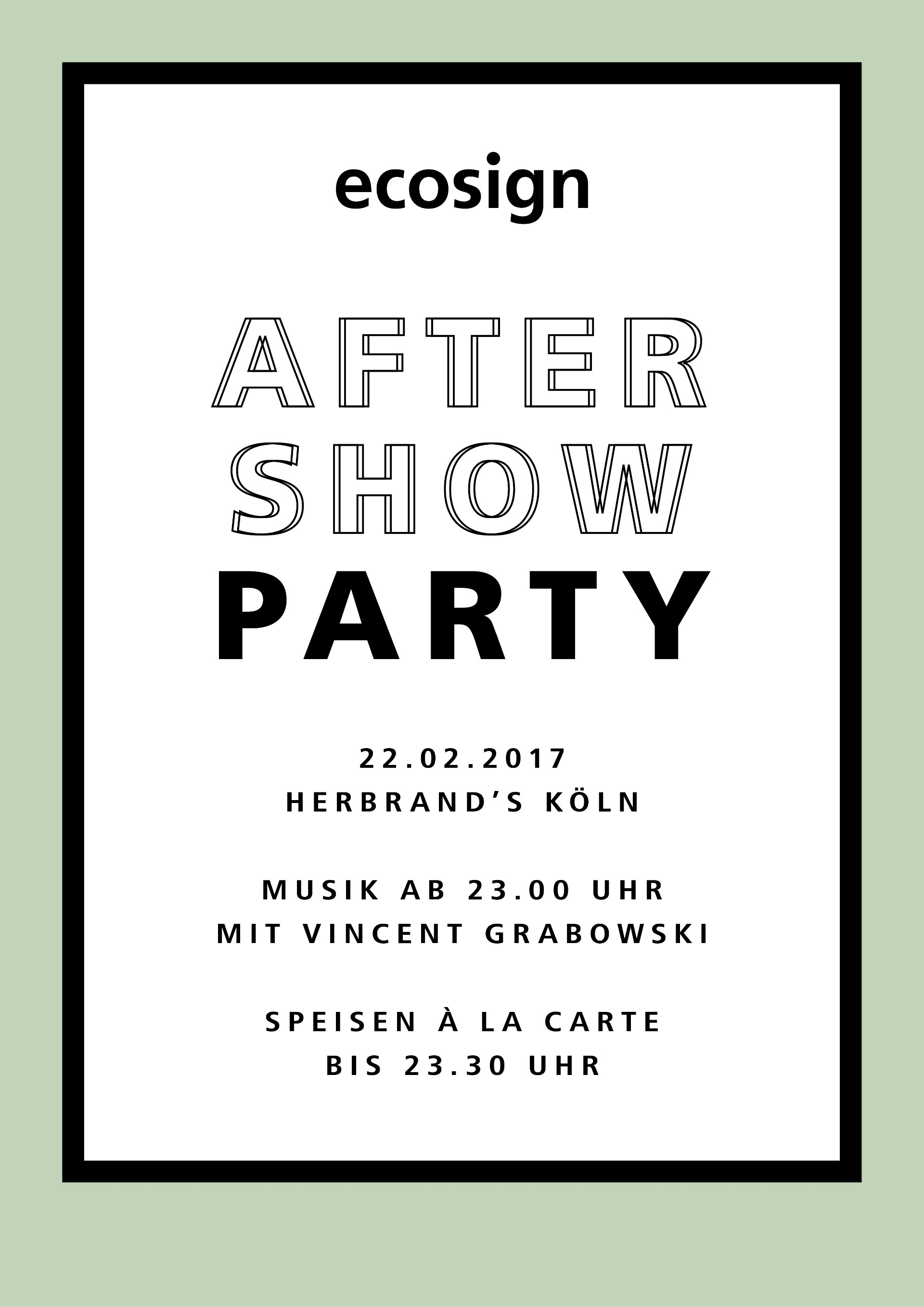 Aftershow Party ecosign