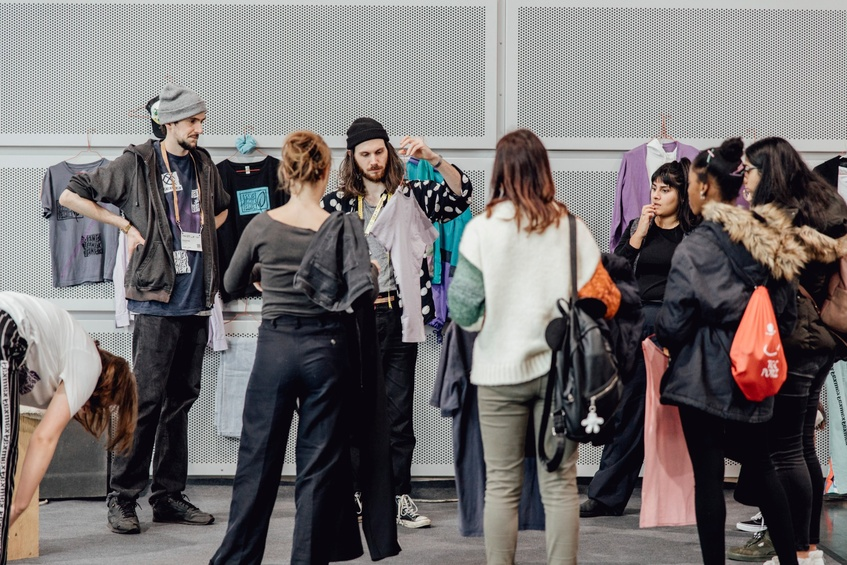 Pop-up Nähfabrik auf dem Textile Campus der PromoTex Expo